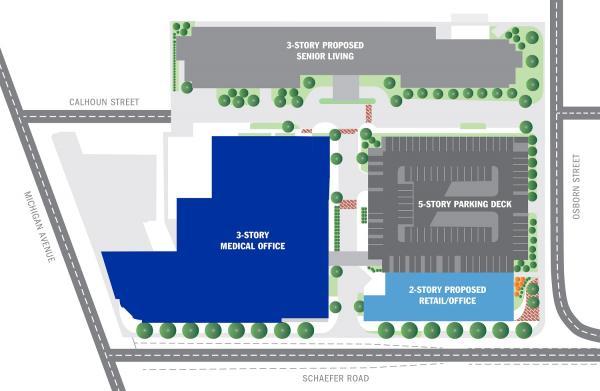 Dearborn Towne Center, Site Plan