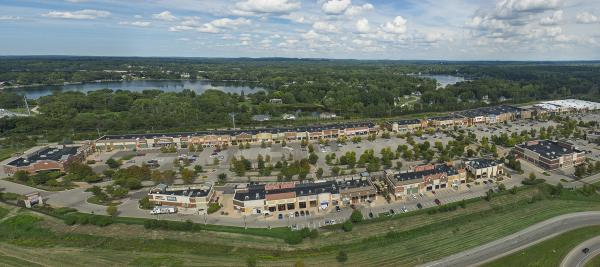 Green Oak Village Place, Aerial View